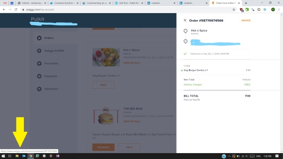 Invoice-button-URL